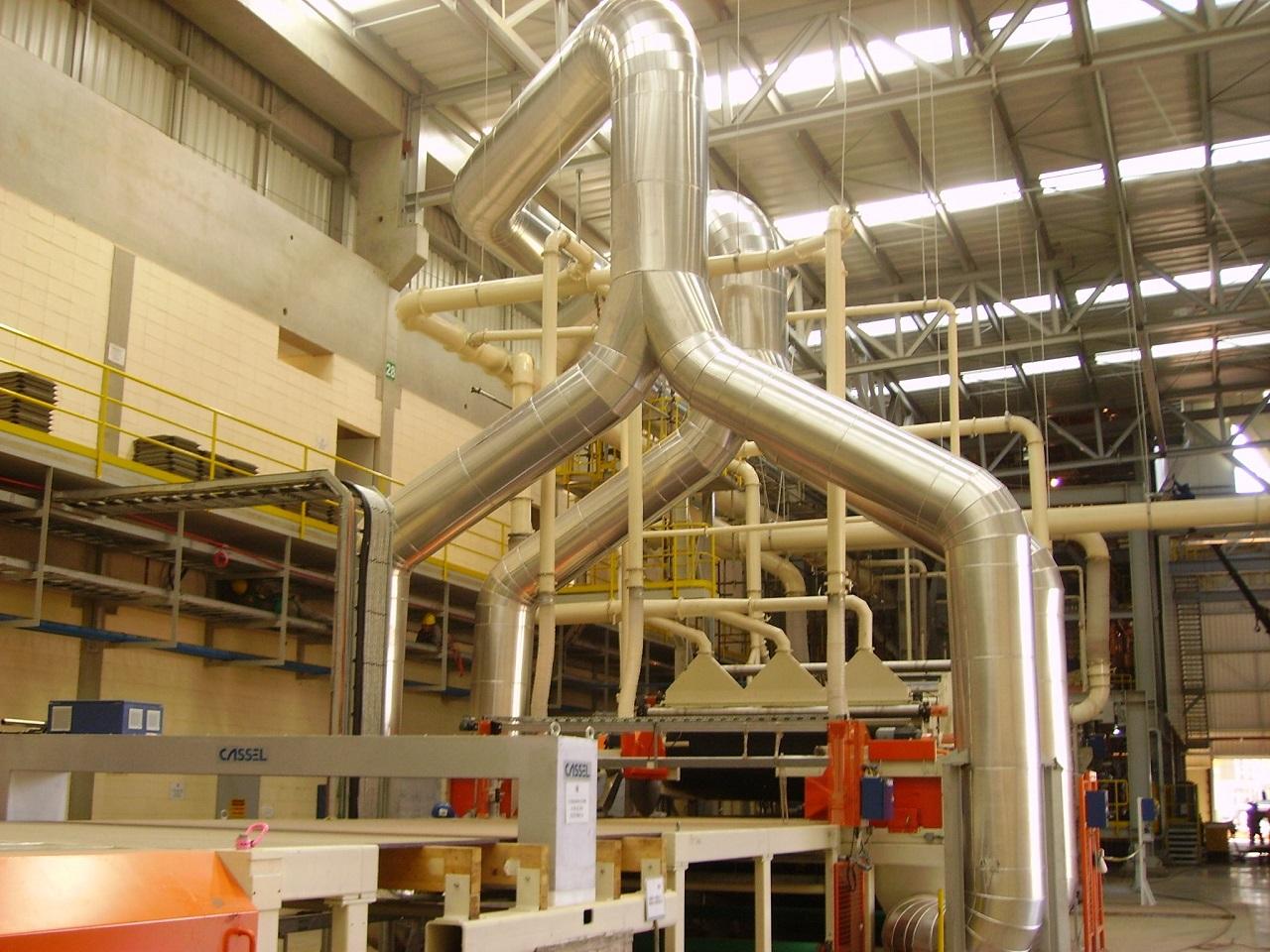 Isolamento termico Industrial de Transportador Pneumático
